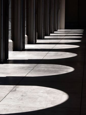This is a picture of light & shadow between arch.