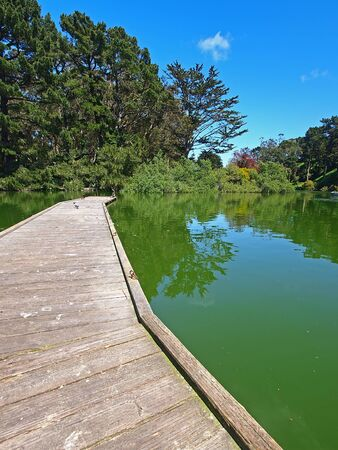 Stow Lake of Golden Gate Park in San Francisco