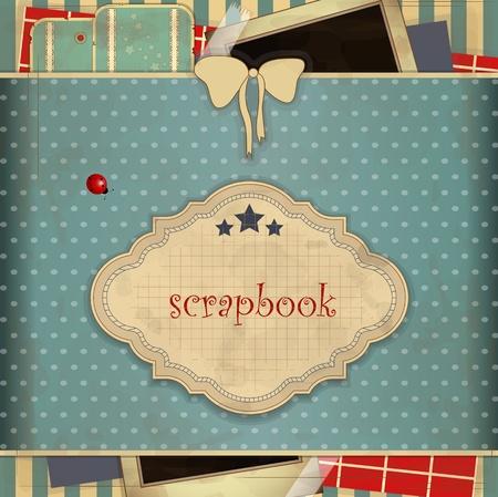 Foto de Abstract background with place for text  in scrapbooking style - Imagen libre de derechos