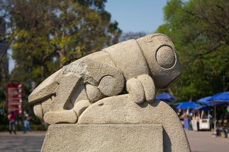 Chapultepec park symbol grasshopper chapulin sculpture DF Mexico city