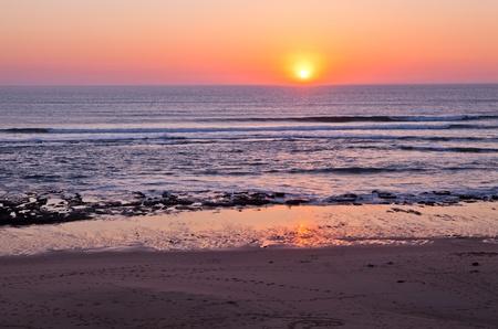 Sunset on Atlantic coast of