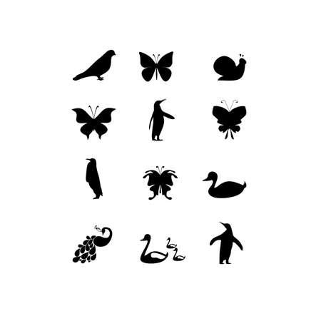 Ilustración de fauna icon on white background - Imagen libre de derechos
