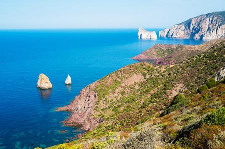 West coast of Sardinia from Nebida Italy