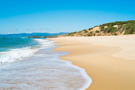 Scivu beach in green coast Sardinia West coast Arbus Italy