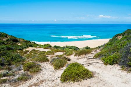 Scivu beach in green coast Sardinia West coast Arbus Italy