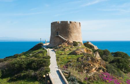 Spanish tower in Santa Teresa di Gallura, Sardinia, Italy