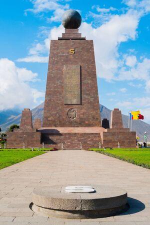 Mitad del Mundo monument on the Equator line, Quito, Ecuador