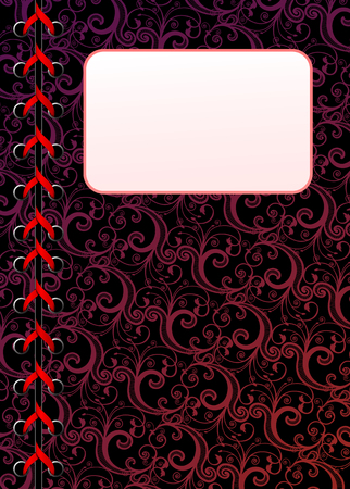 Vector laced floral dark wallpaper with copy-space