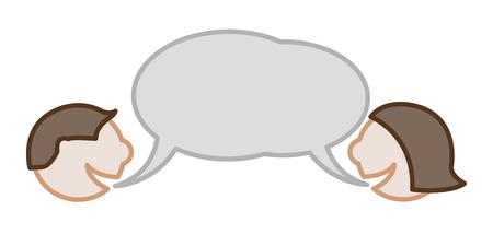Illustration pour dialog between man and woman  - image libre de droit