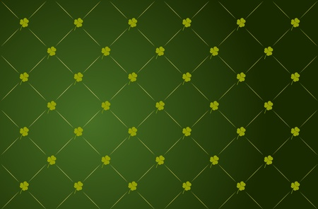 Vector green clover background for St. Patricks Day