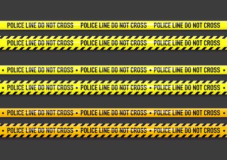 Vector Police line do not cross tape design