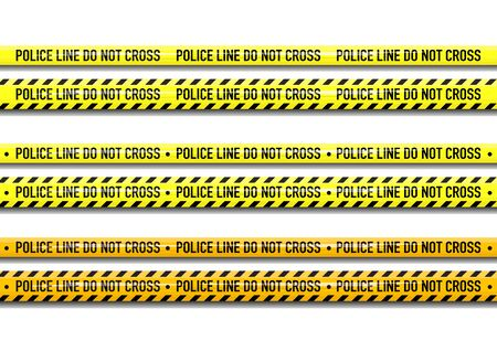 Illustration for Vector Police line do not cross tape design isolated on white background - Royalty Free Image