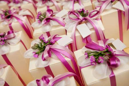 Foto de beautiful wedding gift for guest - Imagen libre de derechos