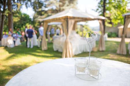 Photo pour outdoor wedding reception - image libre de droit
