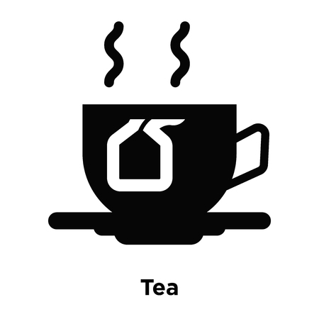 tea icon vector isolated on white background logo concept of tea sign on transparent background filled black symbol royalty free vector graphics clipdealer