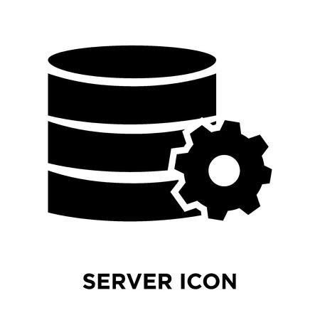 Server icon vector isolated on white background, logo
