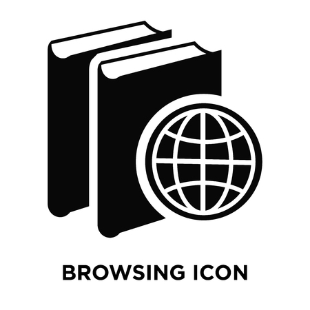 Browsing icon vector isolated on white background, logo concept of Browsing sign on transparent background, filled black symbol