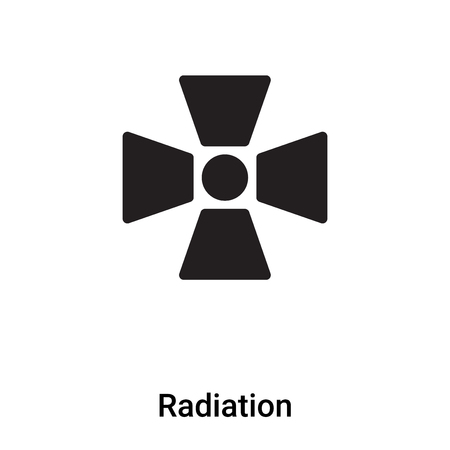 Radiation icon vector isolated on white background, concept of Radiation sign on transparent background, filled black symbol