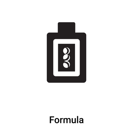 Formula icon vector isolated on white background,  concept of Formula sign on transparent background, filled black symbol