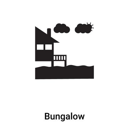 Illustration pour Bungalow icon vector isolated on white background,  concept of Bungalow sign on transparent background, filled black symbol - image libre de droit