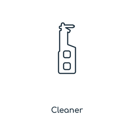 Cleaner concept line icon. Linear Cleaner concept outline symbol design. This simple element illustration can be used for web and mobile UI/UX.