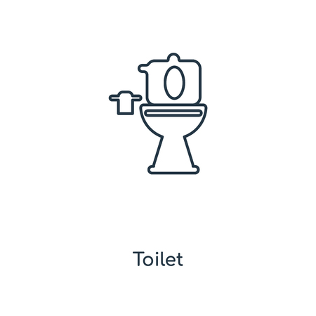 Toilet concept line icon. Linear Toilet concept outline symbol design. This simple element illustration can be used for web and mobile UI/UX.