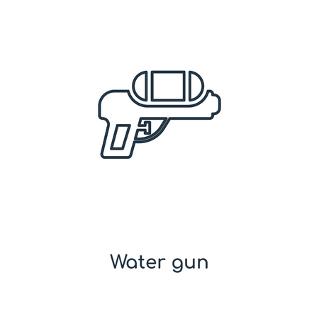 Water gun concept line icon. Linear Water gun concept outline symbol design. This simple element illustration can be used for web and mobile UI/UX.