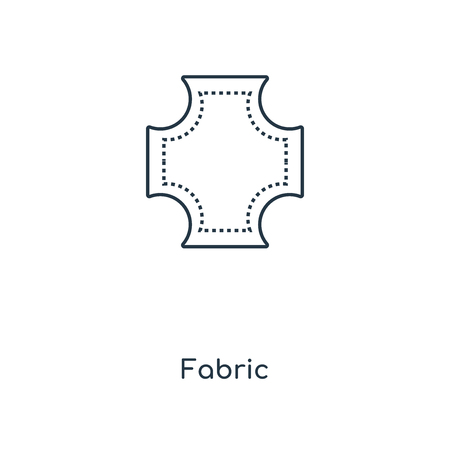 Illustration pour Fabric concept line icon. Linear Fabric concept outline symbol design. This simple element illustration can be used for web and mobile UI/UX. - image libre de droit