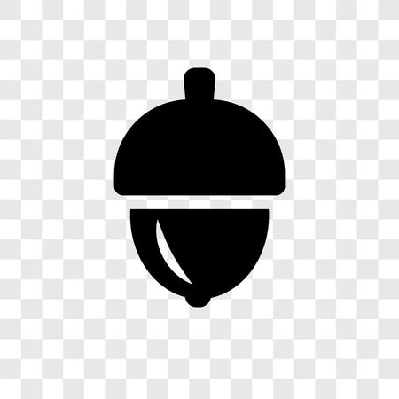 Illustration pour Acorn vector icon isolated on transparent background, Acorn transparency logo concept - image libre de droit