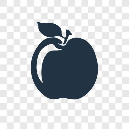 Apple vector icon isolated on transparent background, Apple transparency logo concept