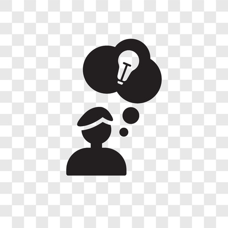 Having an idea vector icon isolated on transparent