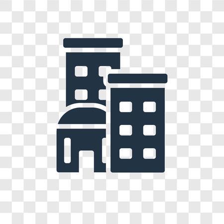 Illustration pour Building vector icon isolated on transparent background, Building transparency logo concept - image libre de droit