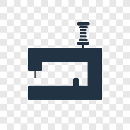 Illustration pour Sewing machine vector icon isolated on transparent background, Sewing machine transparency logo concept - image libre de droit