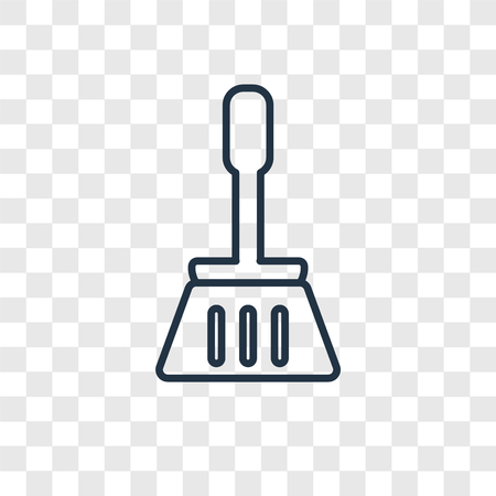 Broom cleanin concept vector linear icon isolated on transparent background, Broom cleanin concept transparency concept in outline style