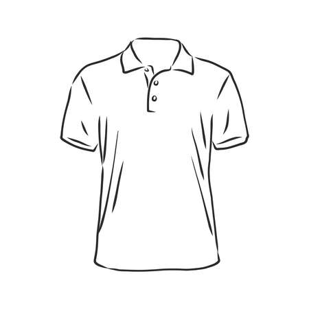 Illustration pour Polo shirt vector sketch icon isolated on background. Hand drawn Polo shirt icon. Polo shirt sketch icon for infographic, website or app. - image libre de droit