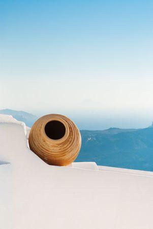 Beautiful decoration at the greek island Santorini