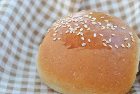 small bun with sesame seeds