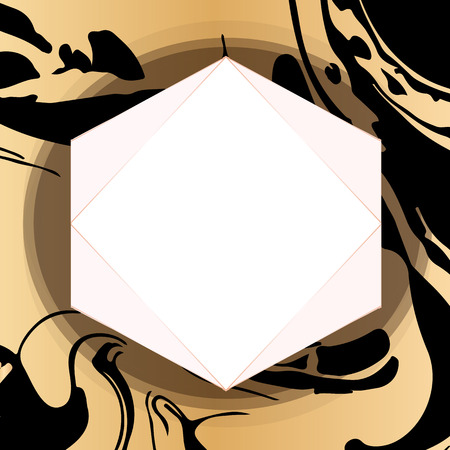 Abstract hand drawn golden background.