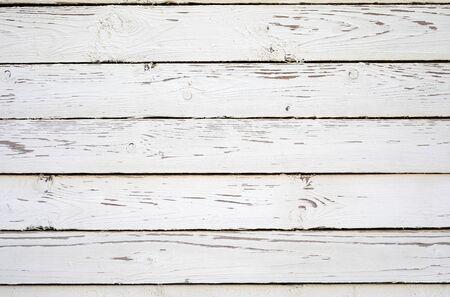 Photo pour White wooden planks texture. Shabby chic background. - image libre de droit