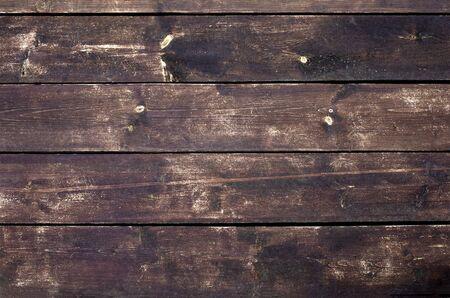Photo pour Brown wood texture. Dark wooden planks. - image libre de droit