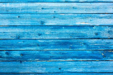 Photo pour Weathered blue wooden background texture. Shabby blue painted wood. - image libre de droit