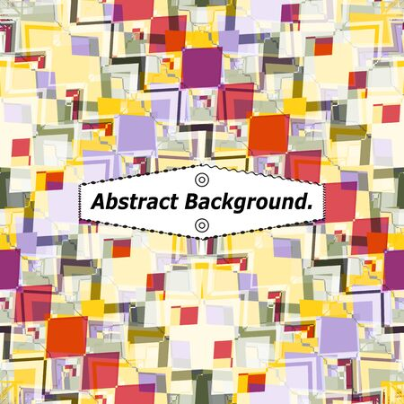 Photo pour Bright mosaic background made of colorful curly fragments, zigzags, rhombuses, borders. Excellent as a background for the production of any printed product, web pages, advertising, or other design. - image libre de droit