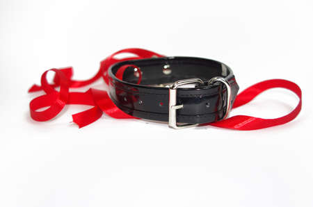 Back patent collar with O ring and red ribbon