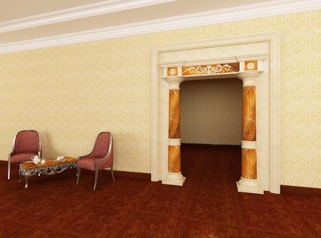 Classic portal in interior