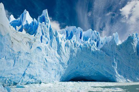Cave in the ice, Perito Moreno glacier, Patagonia Argentina.