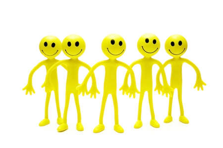 Group of smilies isolated on white background