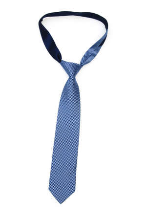 Silk tie isolated on the white background