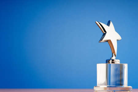 Star award against gradient background