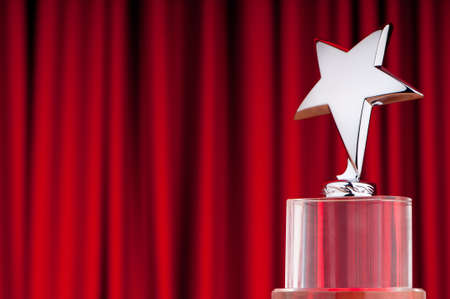 Star award against curtain background