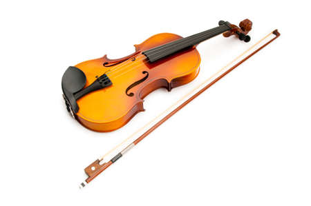 Violin isolated on the white